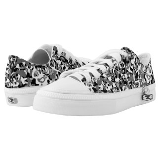Mono Camo Low Top Sneakers Printed Shoes