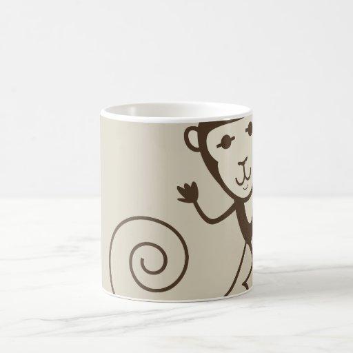 Mono caprichoso taza de café