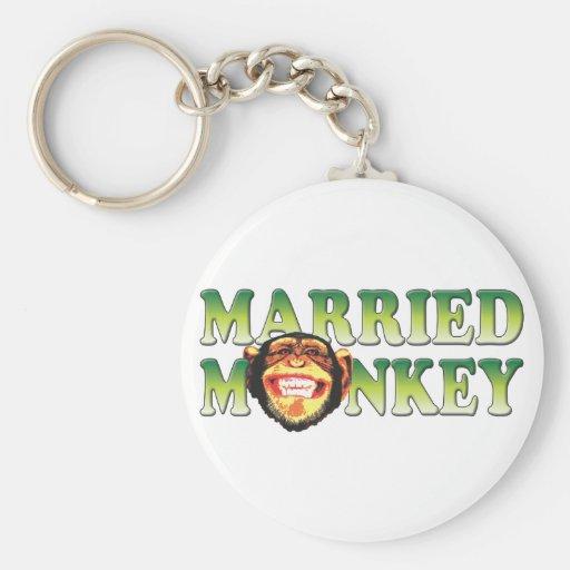 Mono casado llaveros personalizados