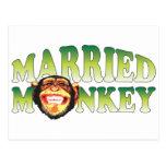 Mono casado postal