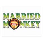 Mono casado tarjetas postales