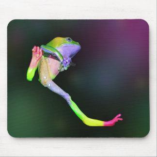 Mono ceroso gigante del arco iris alfombrillas de ratón