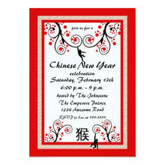 Mono chino del Año Nuevo 2016 e invitación del