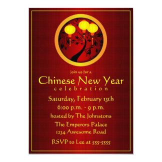 """Mono chino elegante del Año Nuevo con las Invitación 5"""" X 7"""""""