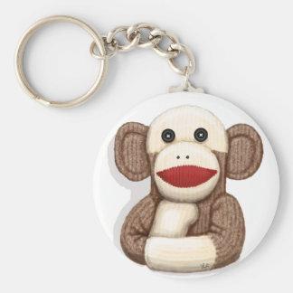 Mono clásico del calcetín llavero personalizado