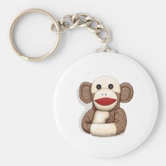 Mono clásico del calcetín llavero redondo tipo pin