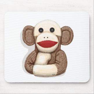 Mono clásico del calcetín alfombrillas de ratón