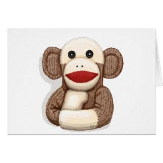 Mono clásico del calcetín tarjetón