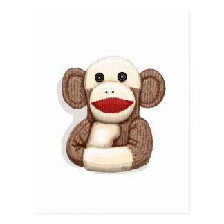 Mono clásico del calcetín tarjetas postales