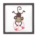 Mono colgante de la paz de la parte superior linda cajas de regalo de calidad