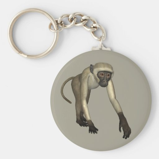 Mono coloreado beige llaveros personalizados