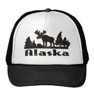 Mono Colored Alaskan Moose Scene Trucker Hat