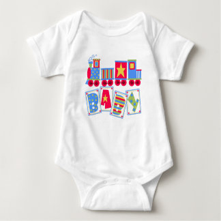 Mono colorido del bebé del tren mameluco de bebé