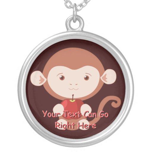 Mono con el collar rojo de Apple