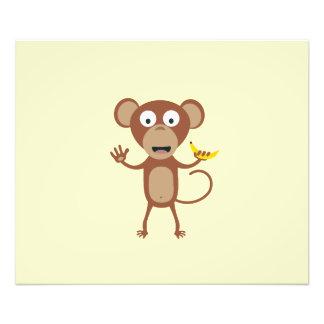 mono con el plátano cojinete