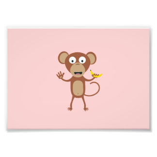 mono con el plátano fotografía