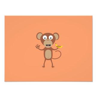 mono con el plátano fotografías