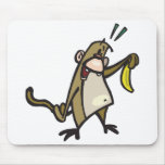 mono con el plátano tapetes de ratón