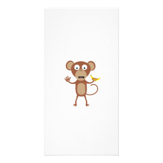 mono con el plátano tarjeta con foto personalizada