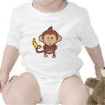 Mono con el plátano trajes de bebé