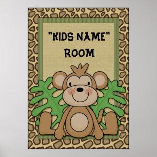 Mono conocido del poster del sitio de los niños póster