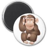 Mono curioso imanes para frigoríficos