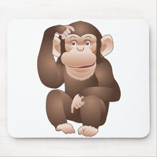 Mono curioso mousepads