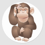 Mono curioso pegatina