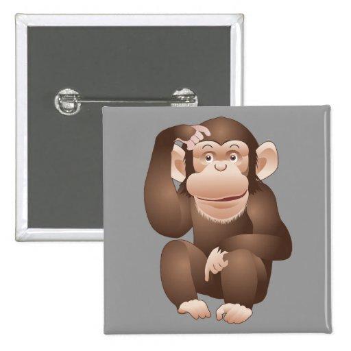 Mono curioso pin