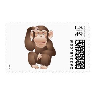 Mono curioso sellos