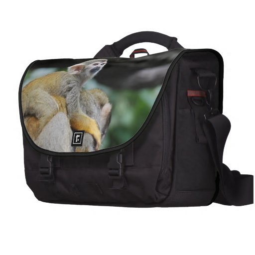 Mono de ardilla adorable del bebé bolsas de portatil