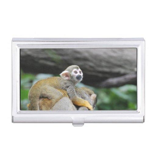 Mono de ardilla adorable del bebé cajas de tarjetas de negocios