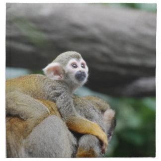Mono de ardilla adorable del bebé servilleta de papel