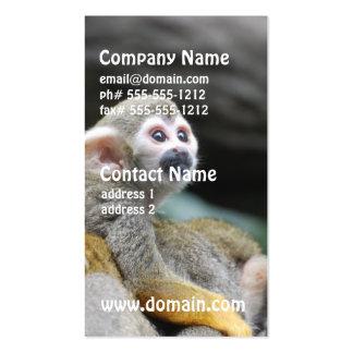 Mono de ardilla adorable del bebé plantillas de tarjetas personales
