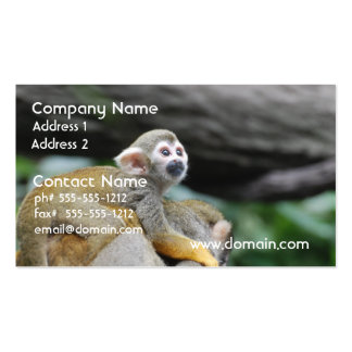 Mono de ardilla adorable del bebé tarjeta de visita