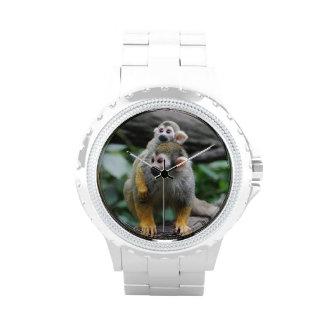 Mono de ardilla adorable relojes de mano