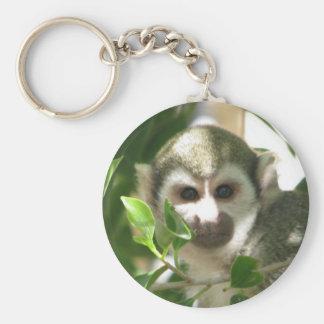 Mono de ardilla común llavero personalizado