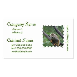 Mono de ardilla dulce tarjeta de visita