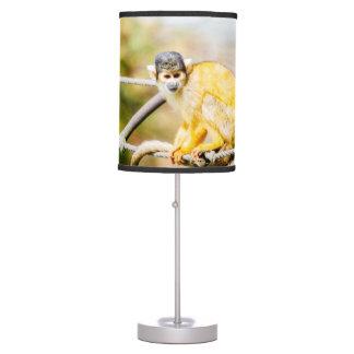 Mono de ardilla - fotografía animal lámpara de mesilla de noche