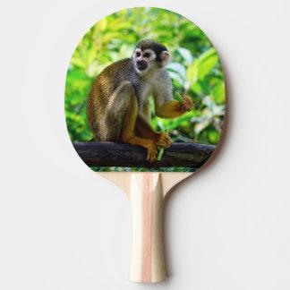 Mono de ardilla lindo pala de ping pong