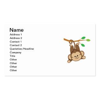 Mono de balanceo del muchacho tarjetas de visita