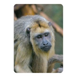 """Mono de chillón de mirada triste invitación 5"""" x 7"""""""