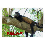 Mono de chillón - relájese tarjetas