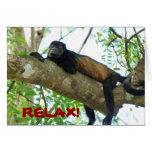 Mono de chillón - relájese tarjeton