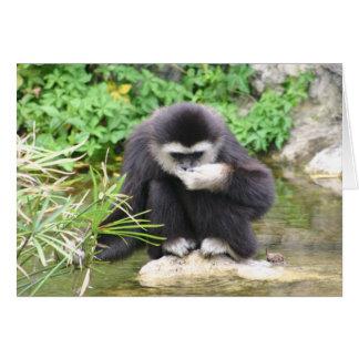Mono de consumición tarjeta de felicitación