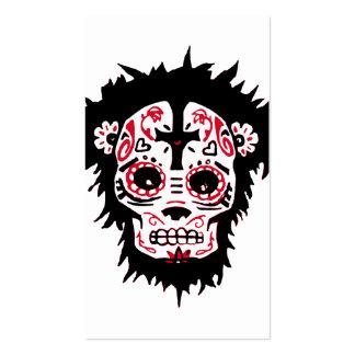 mono de dia de los muertos tarjetas de visita