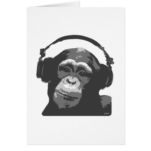MONO DE DJ TARJETA DE FELICITACIÓN