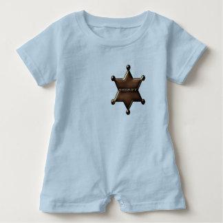 Mono de encargo del bebé de la insignia del camisas