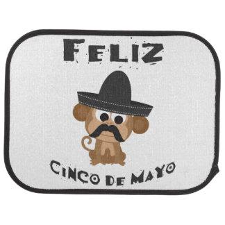 Mono de Feliz Cinco De Mayo Alfombrilla De Coche