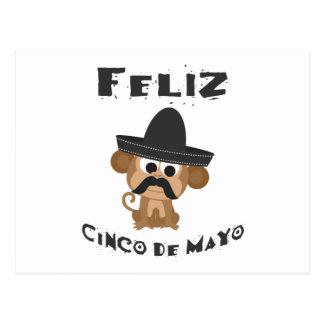 Mono de Feliz Cinco De Mayo Postal